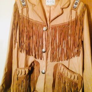 Authentic Scully Bourbon Boar Suede Leather Jacket